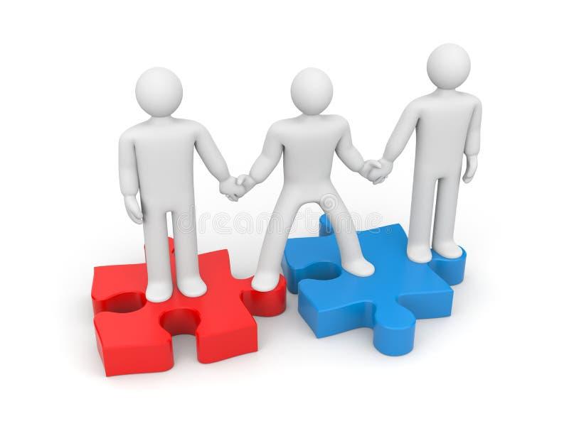 Partnerskap. Portionen räcker stock illustrationer
