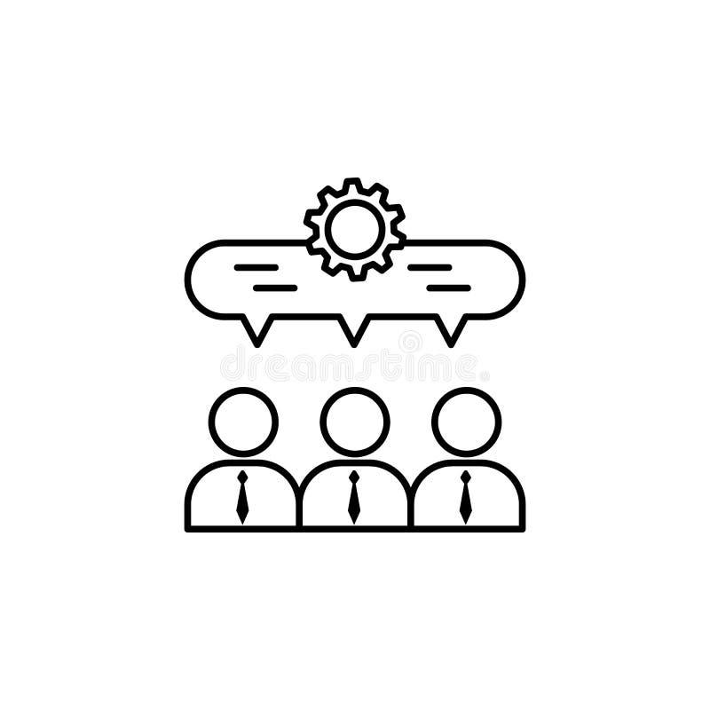 partnerskap, team, arbetsikon Element i teamwork för mobilkoncept och webbappar Ikon för tunn rad för webbplats royaltyfri illustrationer