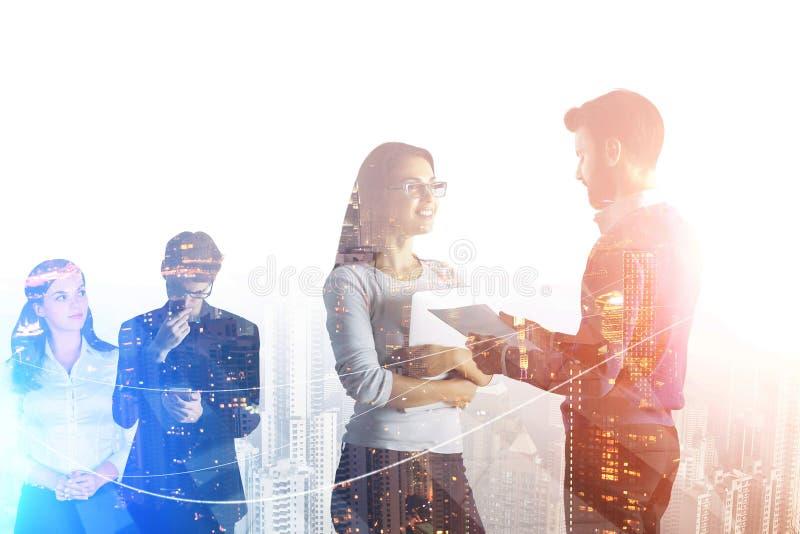 Partnerskapbegrepp med affärsfolk royaltyfri fotografi