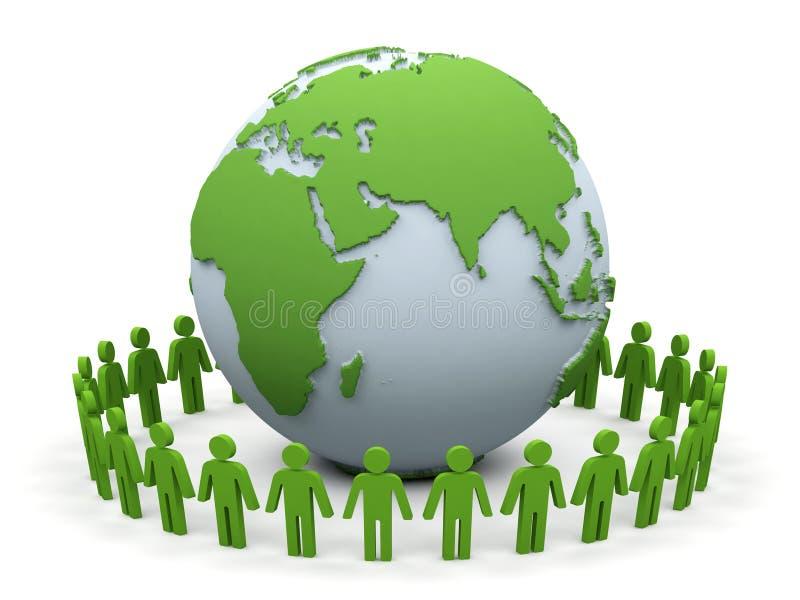 partnerstwo świat ilustracji