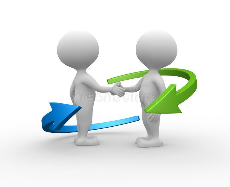 Partnerstwo. royalty ilustracja