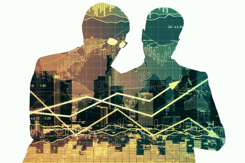 Partnerstwo i pieniężny wzrostowy pojęcie royalty ilustracja