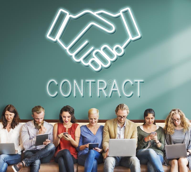 Partnerstwo zgody współpracy współpracy pojęcie zdjęcie royalty free