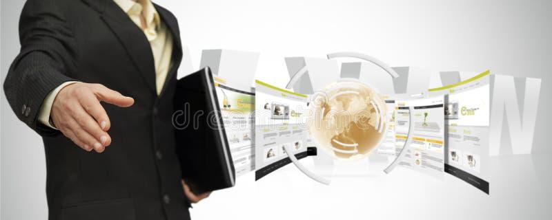 Partnery online zdjęcie stock