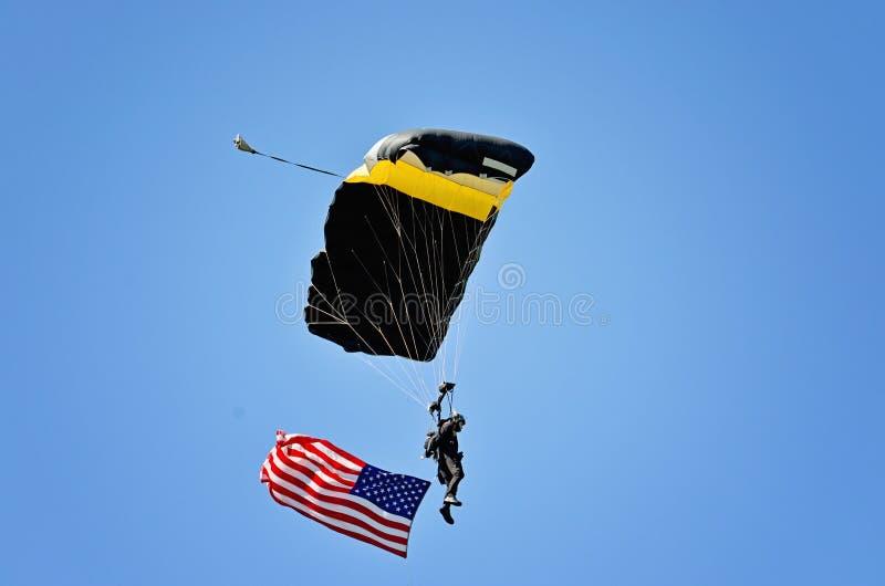 Partrooper dell'accademia militare degli Stati Uniti fotografia stock libera da diritti