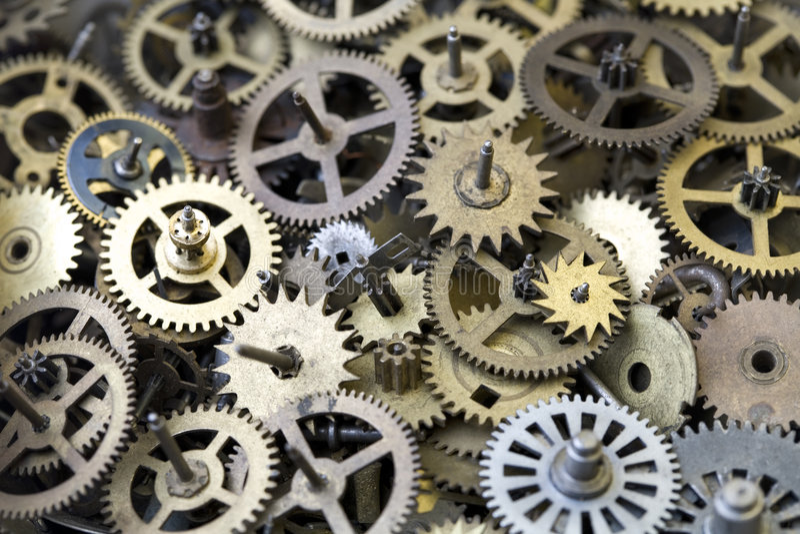 Parts of clock royalty free stock photos