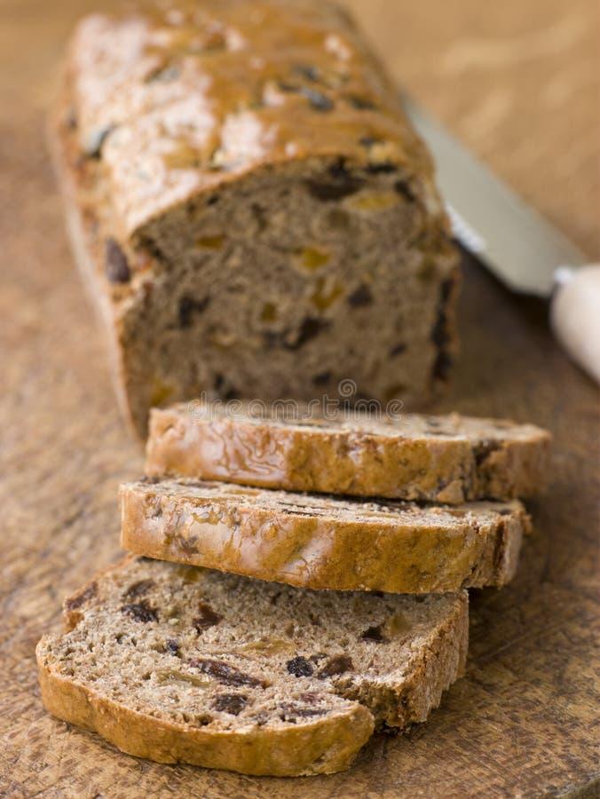 Parts d'un pain de Bara Brith images libres de droits
