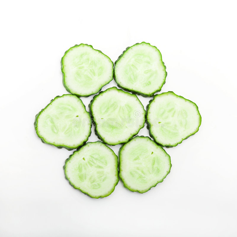 Parts de concombre photo stock