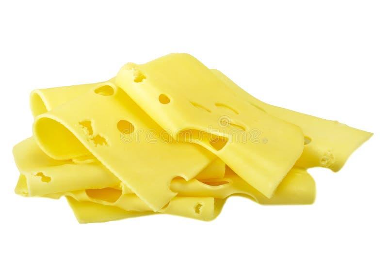 Parts de fromage suisse image stock