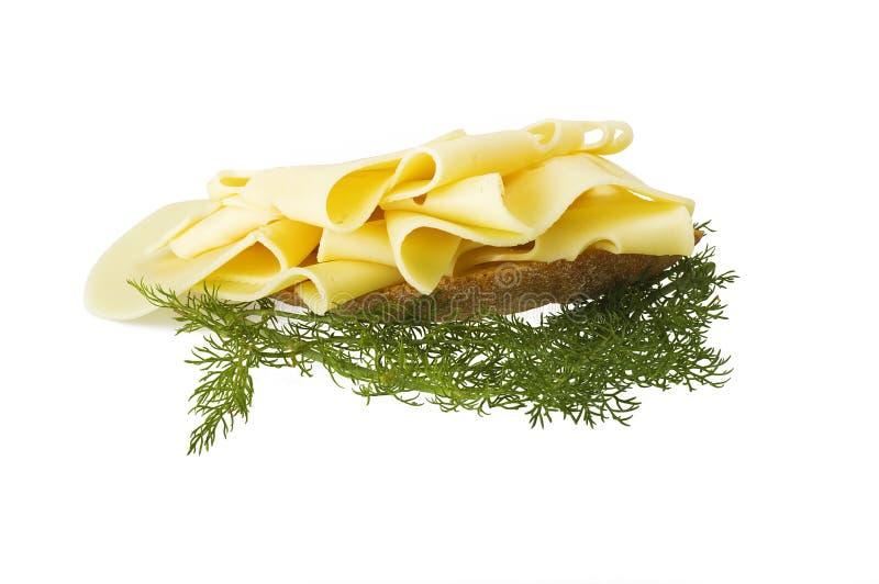 Parts de fromage suisse photo libre de droits