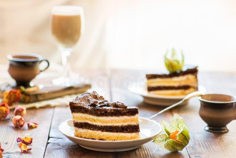 Parts de gâteau image libre de droits