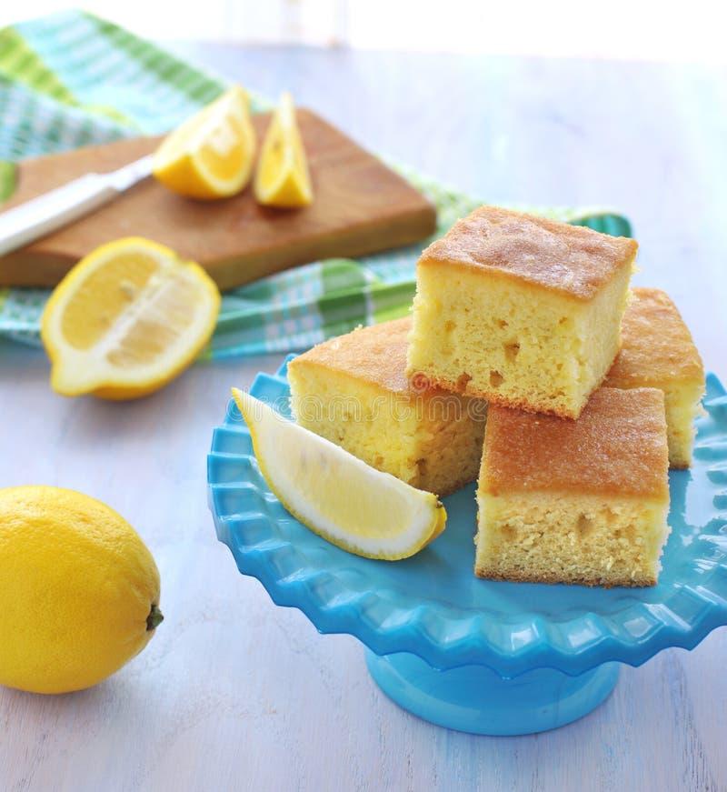 Parts de gâteau de citron photographie stock