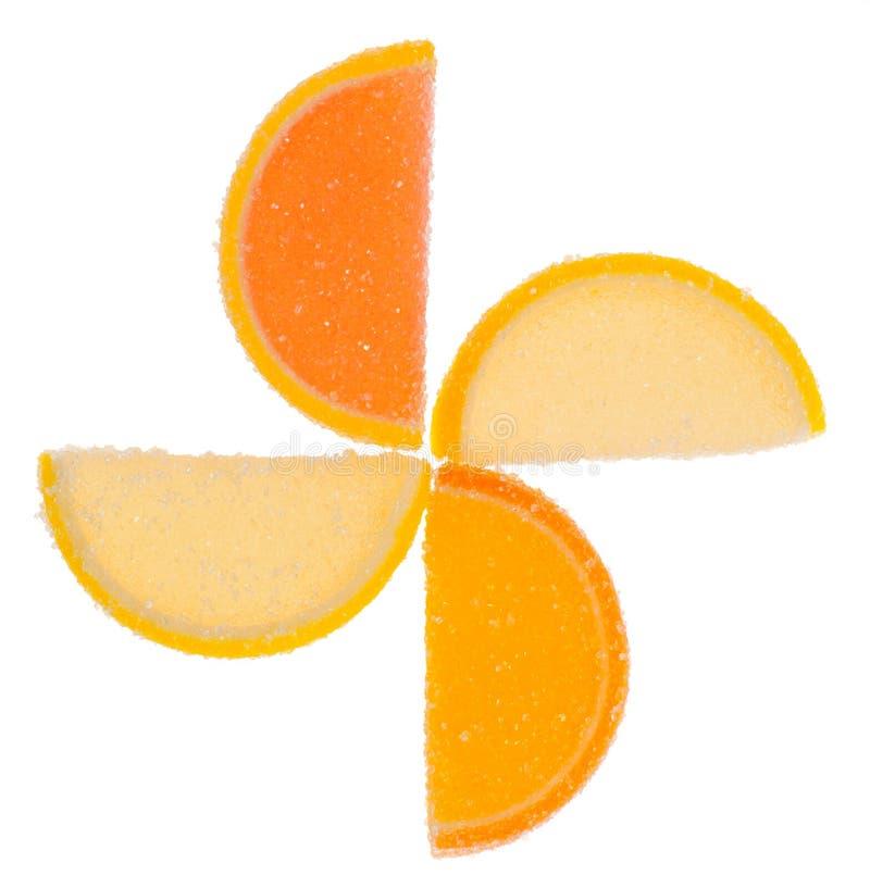 Parts de gelée de fruit images libres de droits