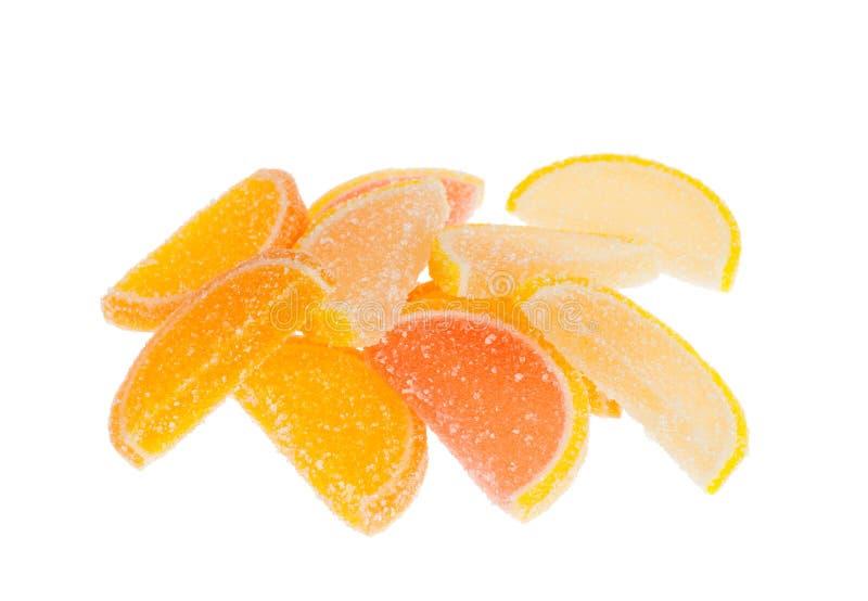 Parts de gelée de fruit photo stock