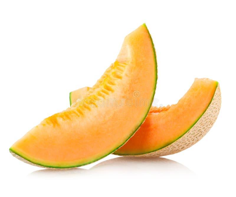 Parts de melon de cantaloup image libre de droits