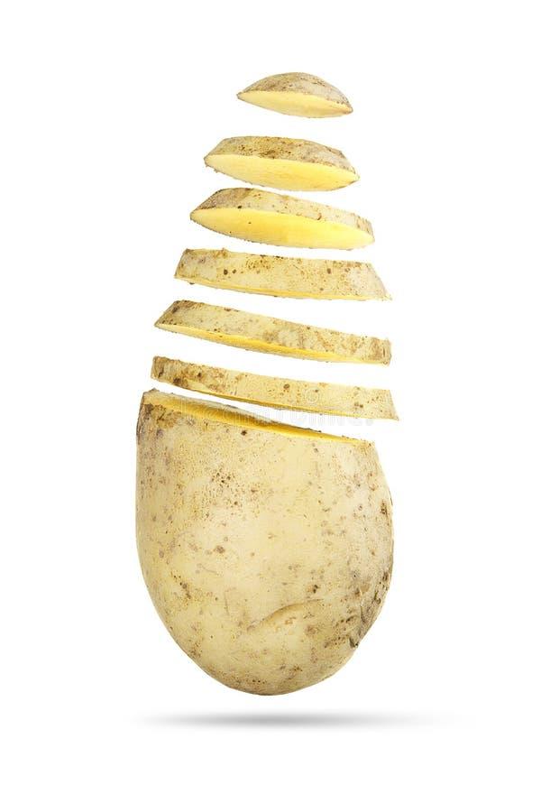 Parts de pomme de terre images libres de droits