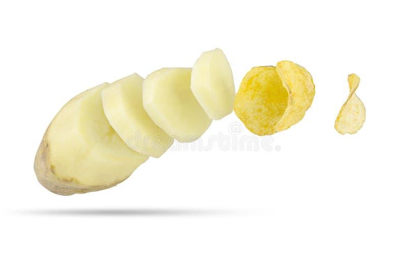 Parts de pomme de terre photo libre de droits