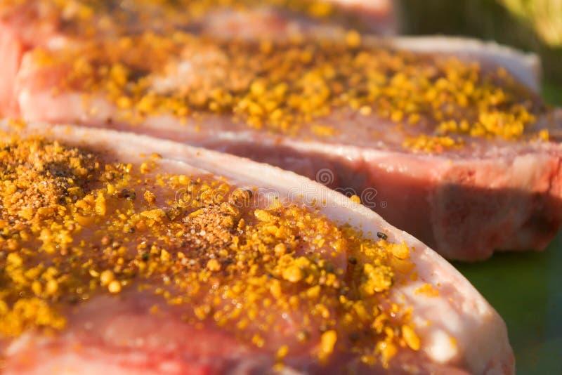 Parts de porc image stock