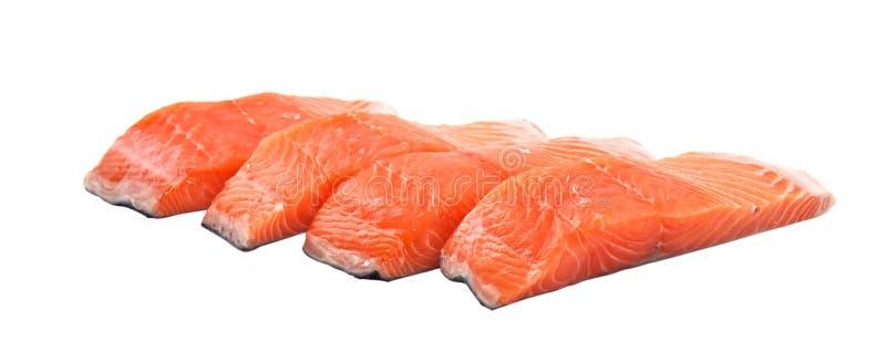 Parts des saumons photo stock