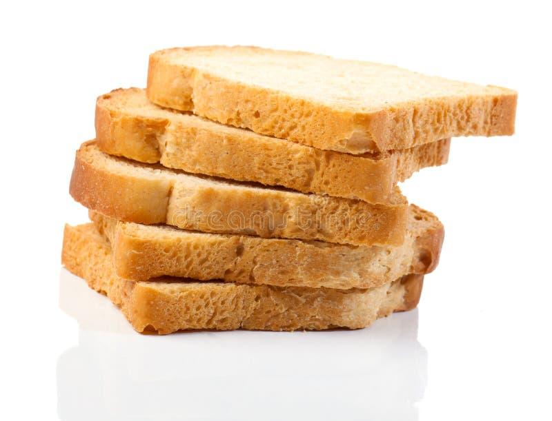 Parts du pain blanc images libres de droits