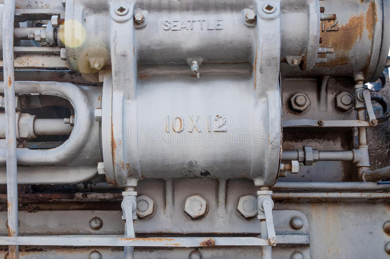Download Parts Of An Old Seattle Train Stock Photo - Image of engine, bolt: 83713080