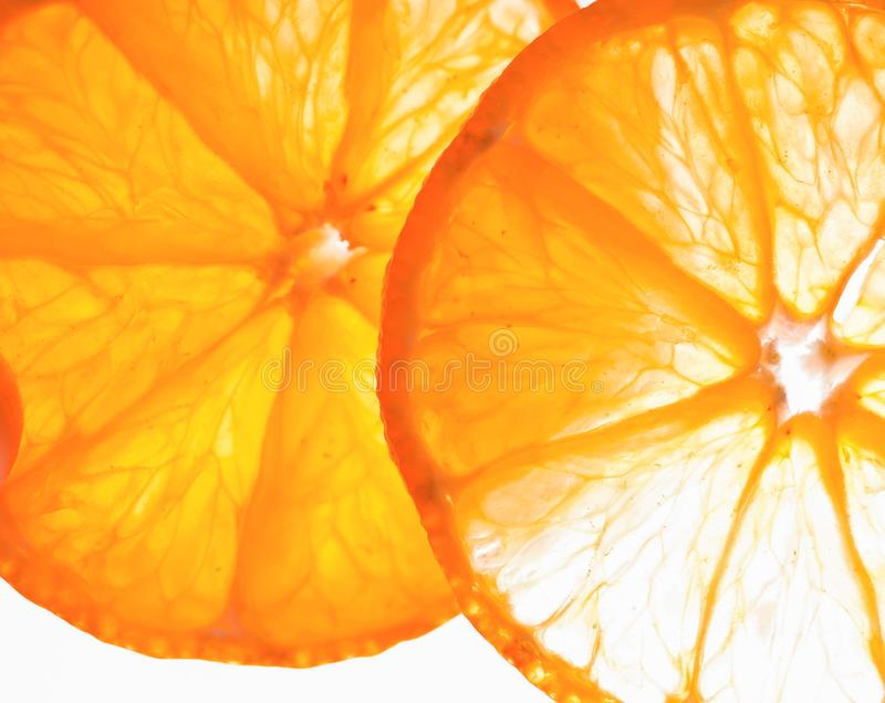 Parts oranges photo stock