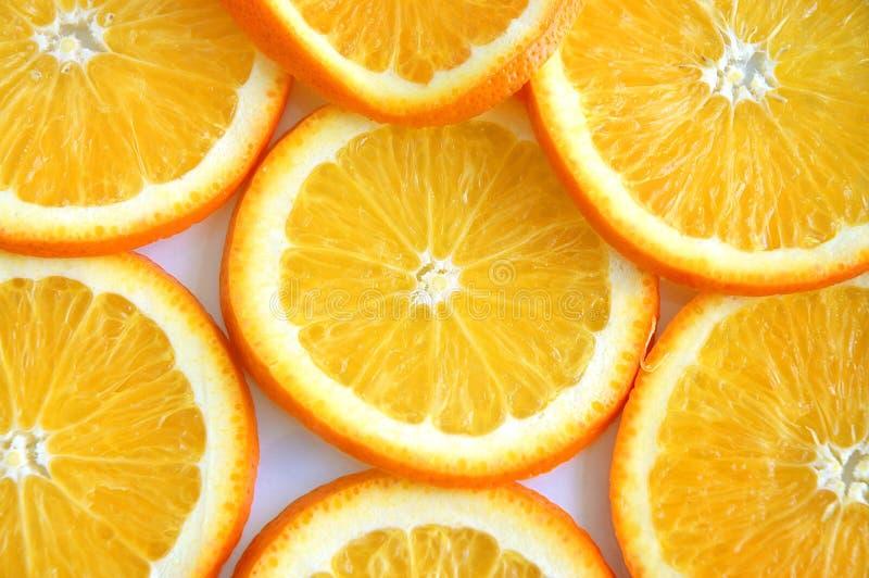 Parts Oranges Photos stock