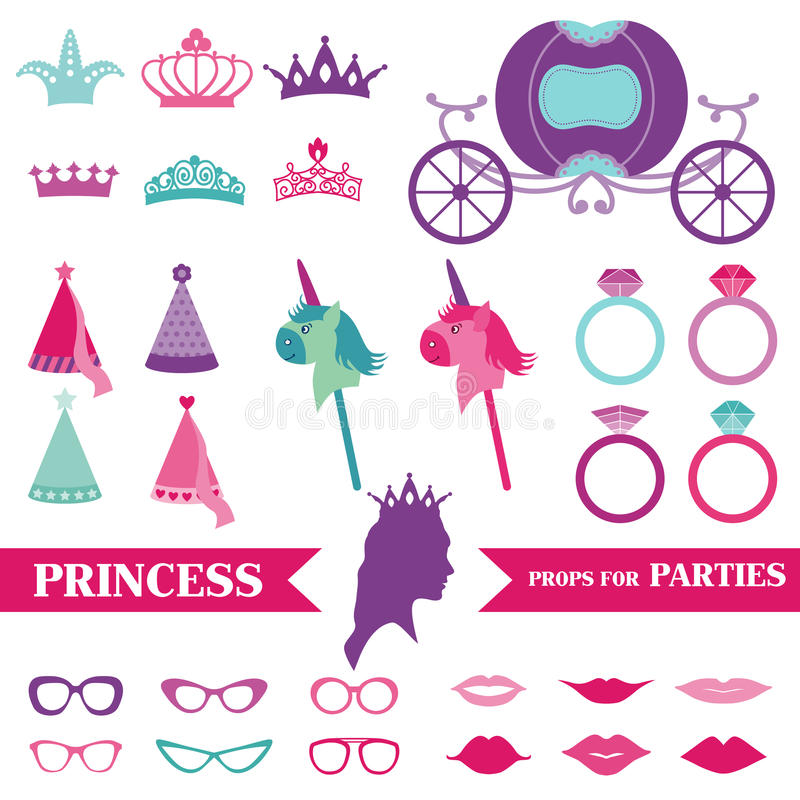 Party公主集合 向量例证