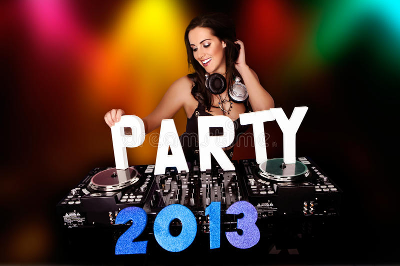 Download PARTY 2013 with DJ stock photo. Image of girl, club, party - 27445266