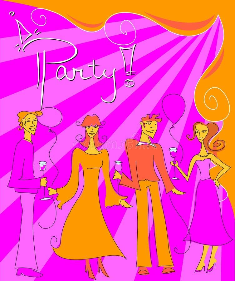 Party! lizenzfreie abbildung