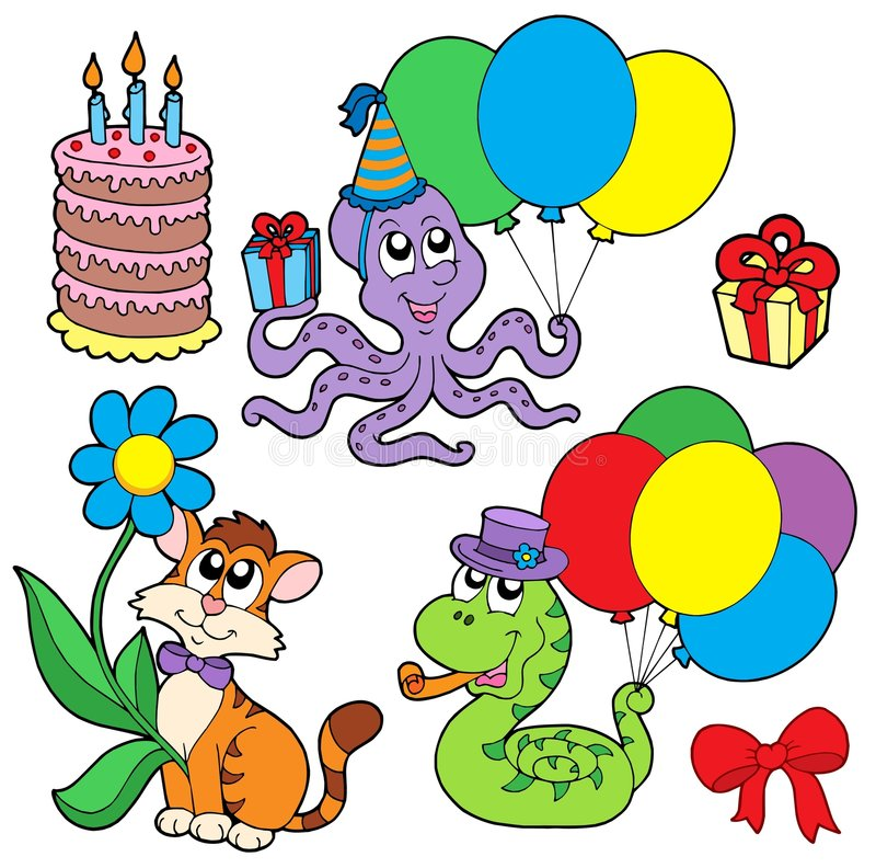 Party Animals Collection Stock Images