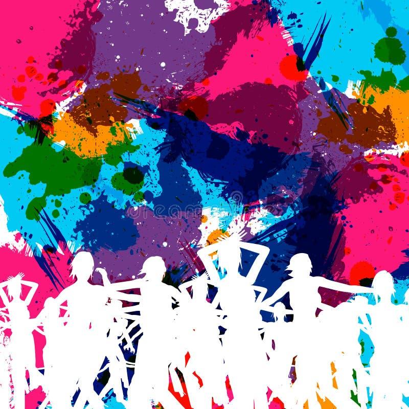 Party art grunge illustration
