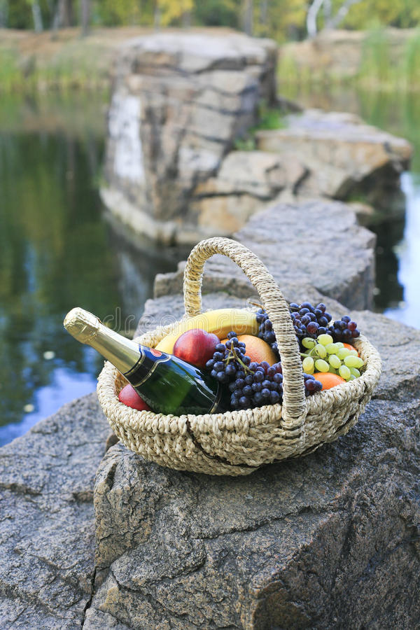 Download Party ashore stock image. Image of apples, grapes, nature - 12563349