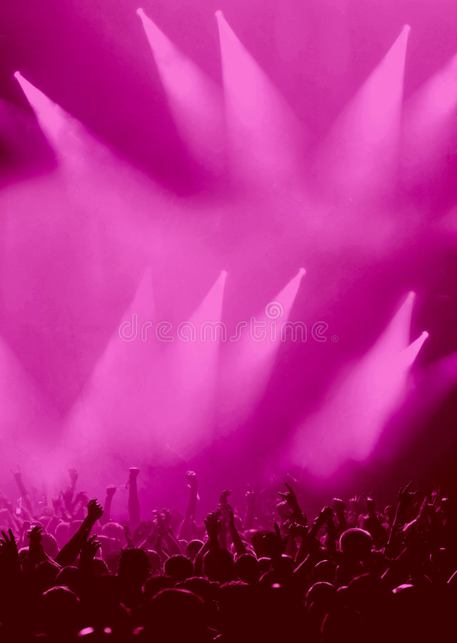 Download Party Audience Or Concert Crowd In Magenta Stock Photo - Image: 8667264
