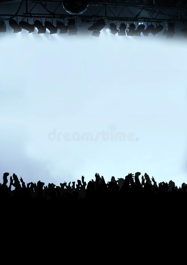 Download Party Audience Or Concert Crowd In Violet Stock Photo - Image: 9669026