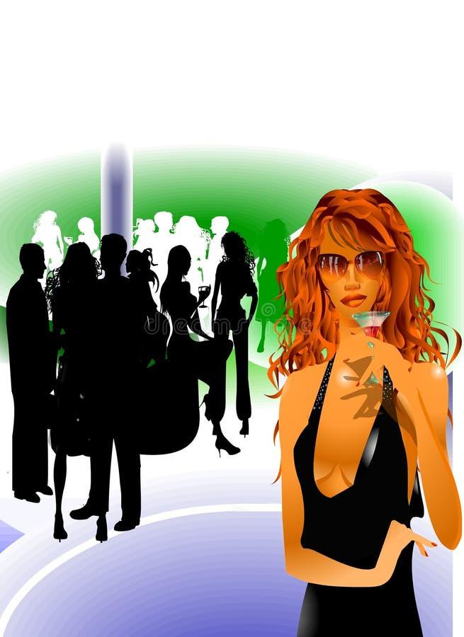 Party-Aufenthaltsraum-Freizeit lizenzfreie abbildung