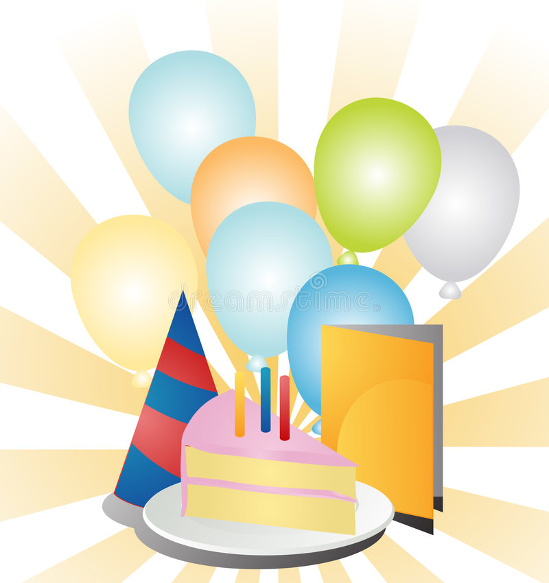 Party Ballons stock abbildung