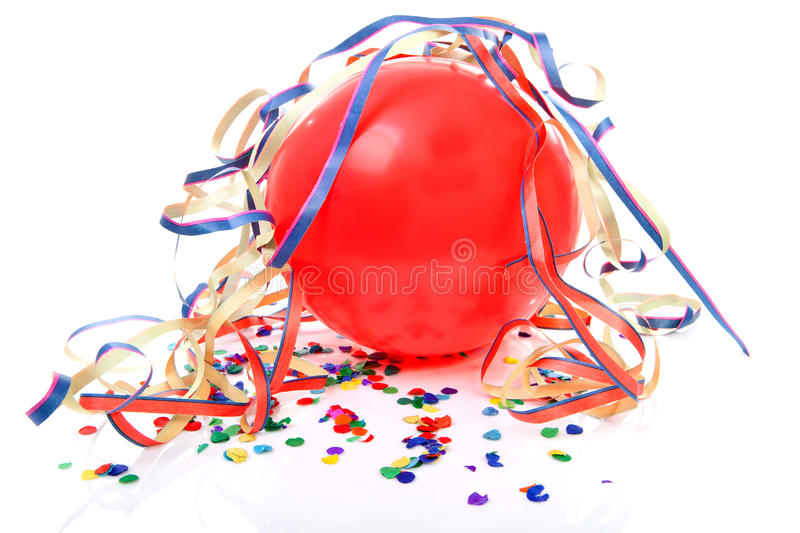 Party balloon and streamers royalty free stock photos