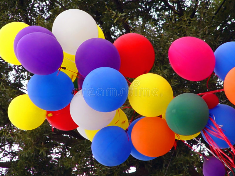 Download Party Balloons stock photo. Image of helium, celebration - 1580