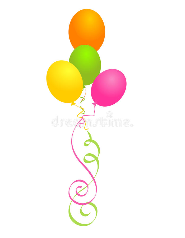 Party balloons royalty free illustration