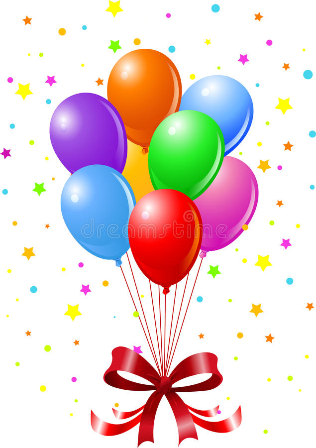Party Balloons vector illustration