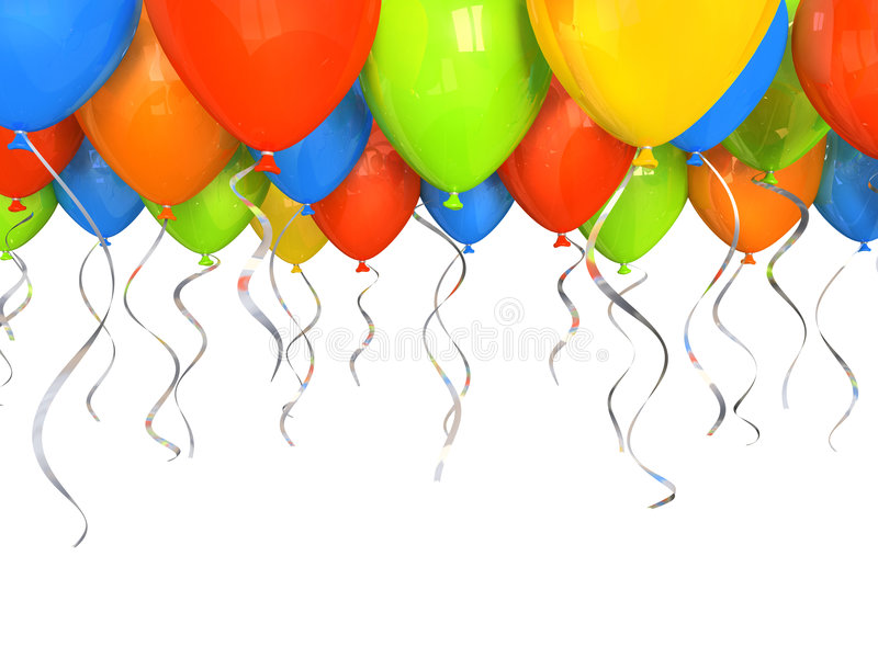 Party balloons background stock illustration