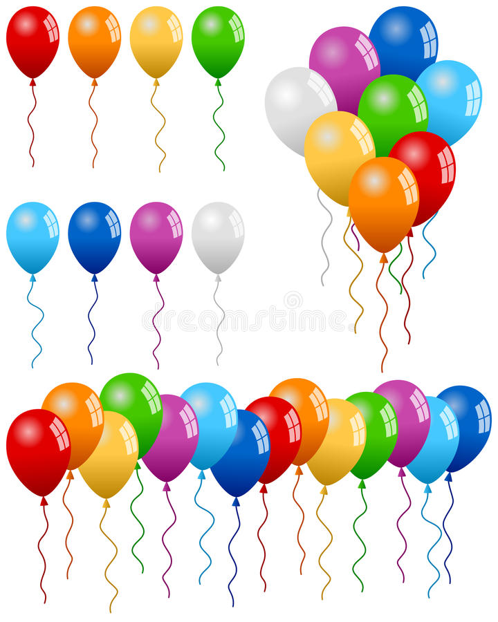 Free Party Balloons Collection Stock Photography - 24917562