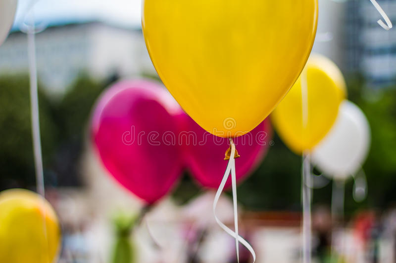 Party balloons. Colorful party balloons. Party, celebration background concept stock photos