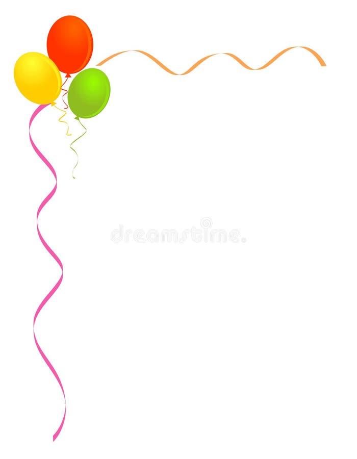 Party balloons frame border vector illustration