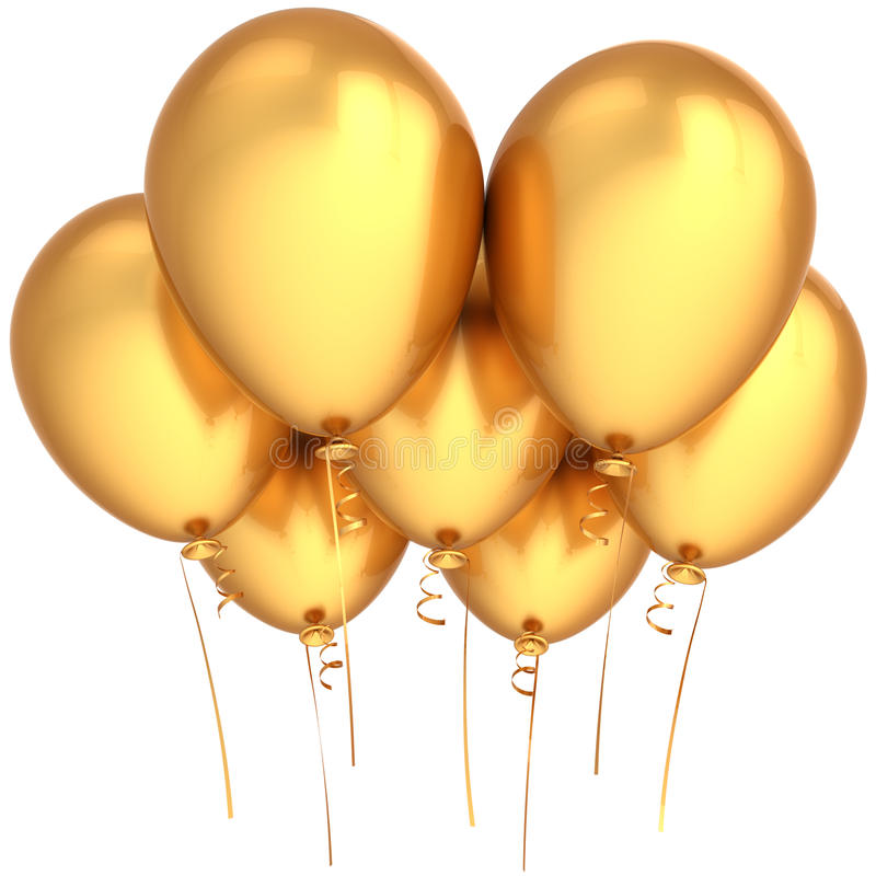 Party balloons golden royalty free stock photography