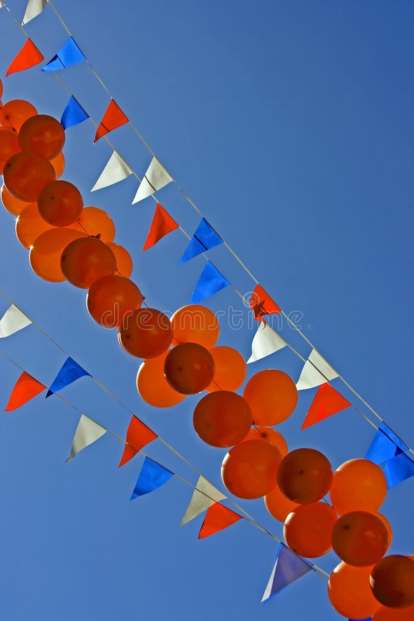 Party Balloons At Queensday Royalty Free Stock Photography