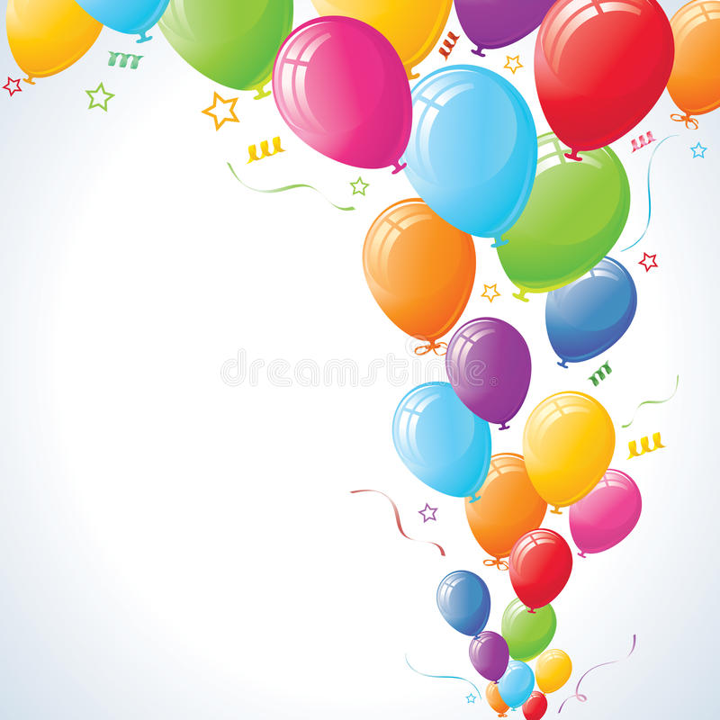 Download Party Balloons Rising stock vector. Image of pink, vibrant - 14340310