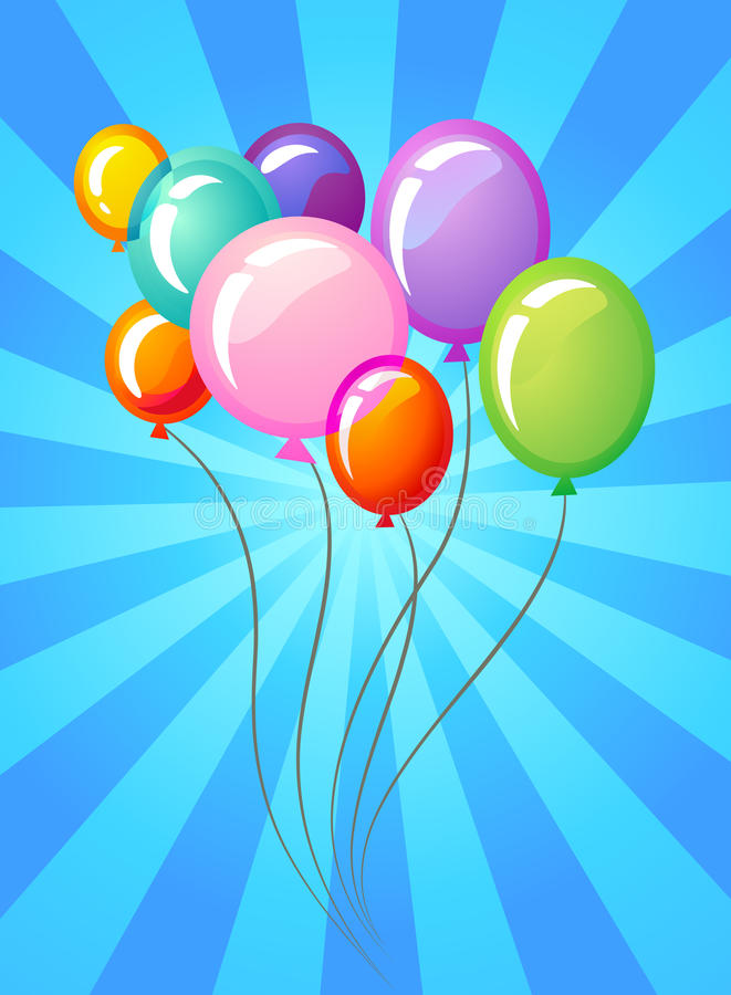 Party balloons template vector illustration