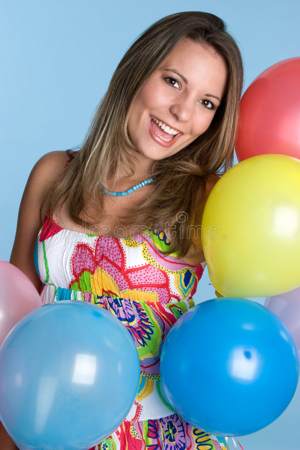 Party Balloons Woman royalty free stock photos